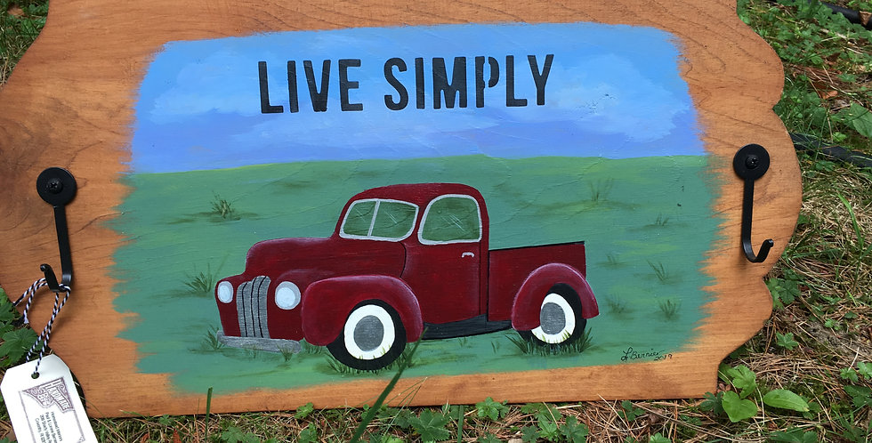 Hand painted plaque