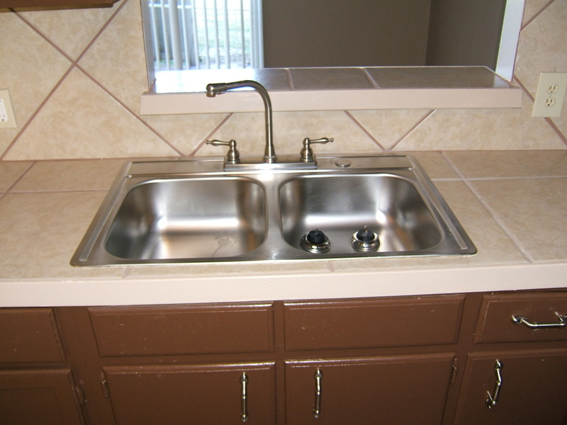 Many countertops are done in ceramic