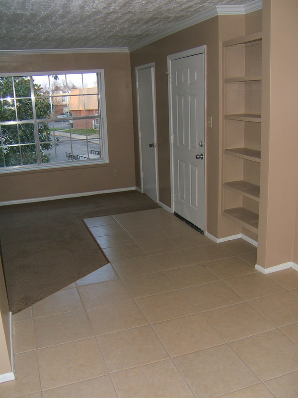 One Bedroom Entry and Living Room