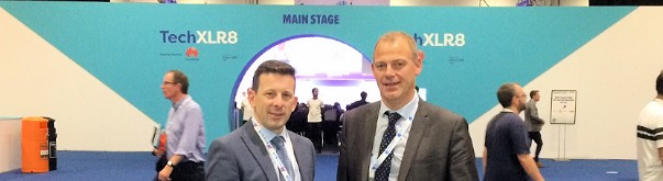 Toney Shooter and Steve Slater at 5G World in London