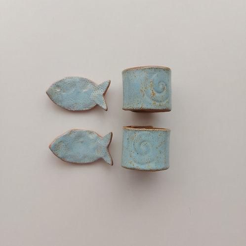 Porta Guardanapos e Talheres - OLA cerâmicas - Ceramista Leomara Burgel