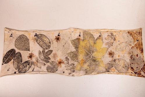 Cachecol-gola Ecoprint Natureza (3) - Artista Têxtil Rejane Mota