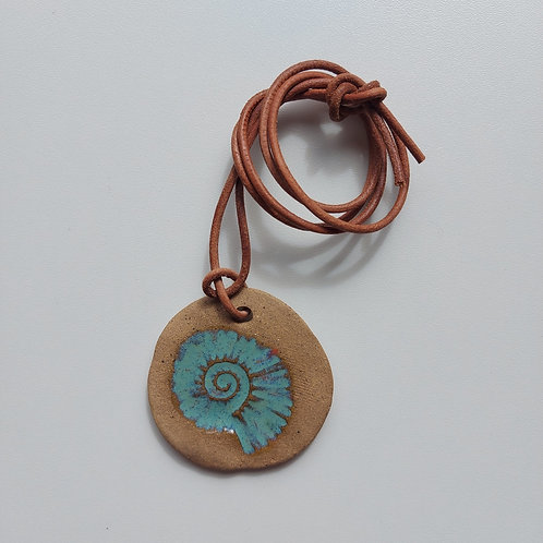 Colar Nautilus - OLA cerâmicas -  Ceramista Leomara Burgel