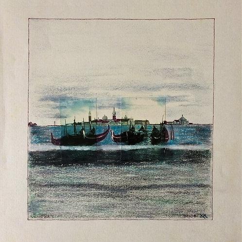 """""""Veneza"""" – 1981 - Artista Plástico Karlos Rischbieter"""