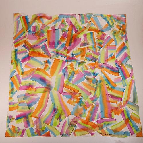 "Lenço ""Matisse"", seda pura - Artista Têxtil Rejane Mota"