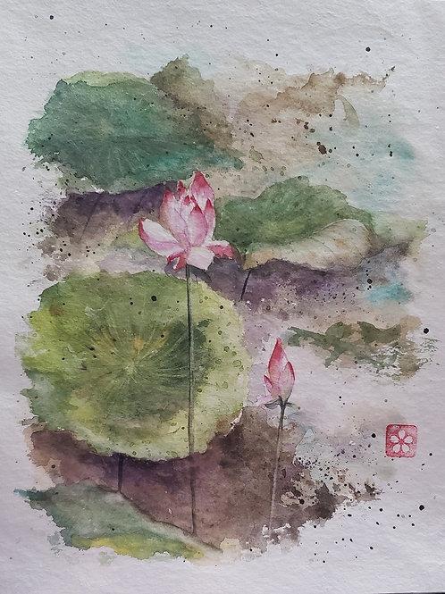 Flor de Lótus - Artista Sandra Kuniwake
