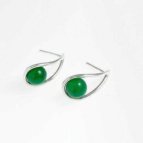 Brinco Gota Jade - Designer Mel Bandeira