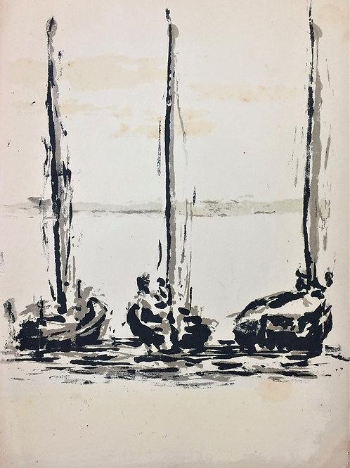 """""""Homenagem a Jorge Amado"""" – 1962 - Artista Plástico Paul Garfukel"""