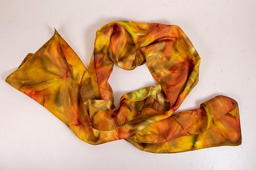 """Echarpe """"Cores de Outono"""", seda pura - Artista Têxtil Rejane Mota"""