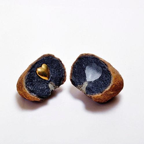Coração de pedra - Escultor Alfi