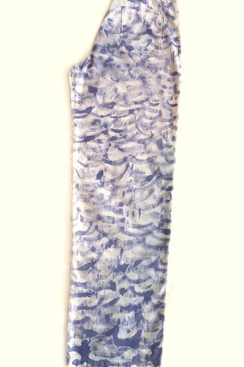 Calças Ondas (M) e Calça Respingo  Lilás (P)  - Artista Liane Mestrinho