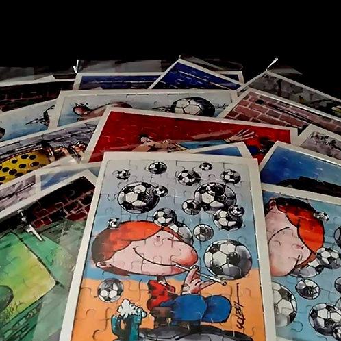 Quebra-cabeças (com caixinha montável) - Cartunista Luiz Antonio Solda