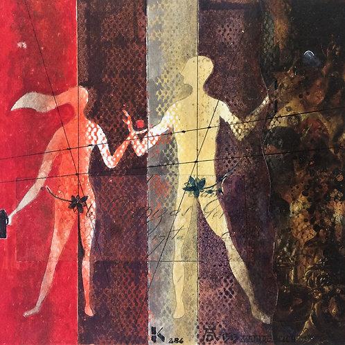 """""""Adão e Eva"""" – 1986 - Artista Plastico Karlos Rischbieter"""