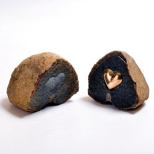 Coração de pedra - Escultor Alfi Vivern
