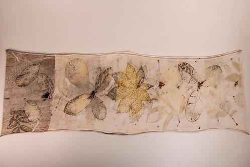 Cachecol-gola Ecoprint Natureza (4) - Artista Rejane Mota
