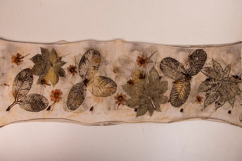 Cachecol-gola Ecoprint Natureza (2) - Artista têxtil Rejane Mota