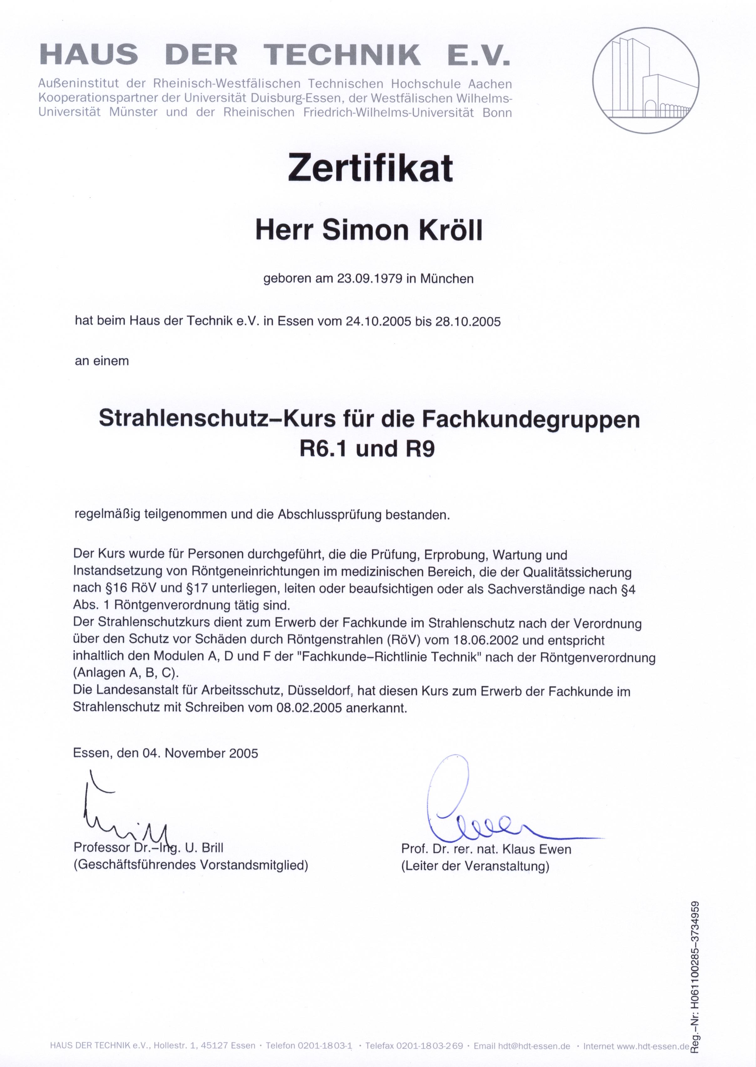 2005_10_Haus der Technik_Strahlenschutz-