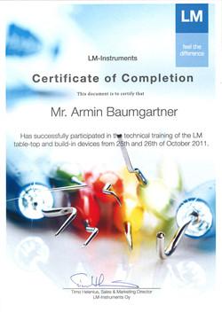 2011_10_Baumgartner_LM-certificate