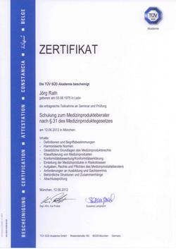 2012_06_Rath_TUEV_Medizinprodukteberater