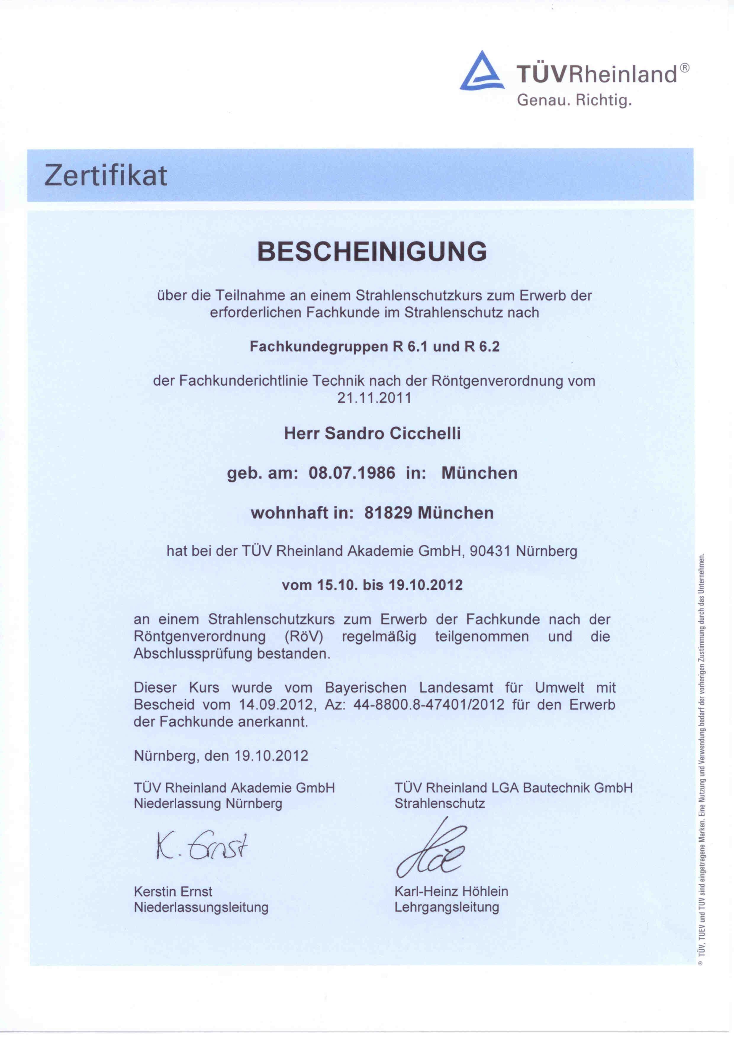 2012_10_Cicchelli_TUEV_Strahlenschutzkur