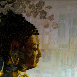 Buddha  hoogte 81 cm breedte 128 cm.