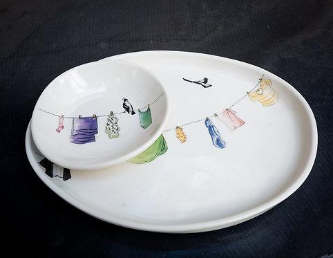 Medium platter set No.44