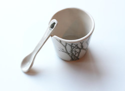 Medium chutney pot and spoon