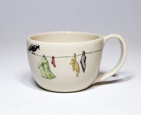 Tea Cup No.1 - Washing day