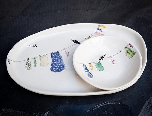 Medium platter set No.43