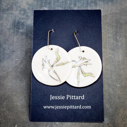 Australian Clematis earrings No.74