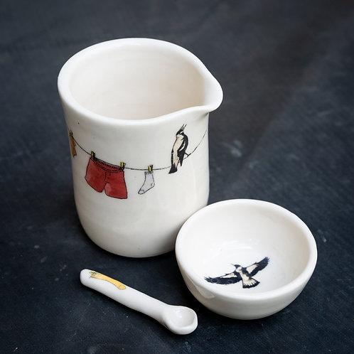 Small milk pourer with sugar pot No.2