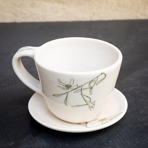 Medium mug and saucer No.38
