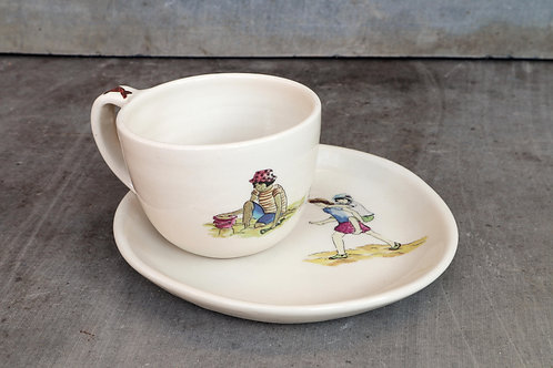CUP PLATE SET No.1 -beach day