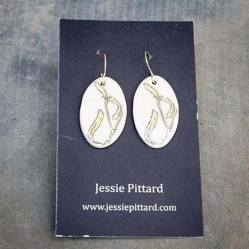Australian clematis earrings No.71