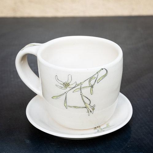 Medium mug and saucer No.34