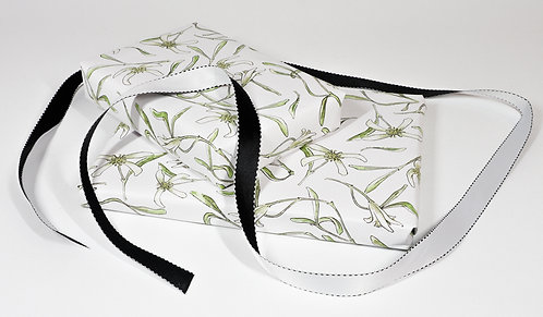 WRAPPING PAPER 3 SHEET PACK - clematis