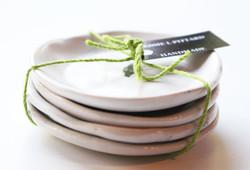 Set of four plates