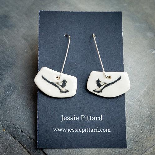 Australian Magpie earrings No.91