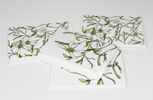 Gift cards 4 Pack - clematis