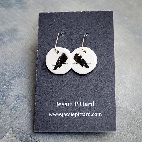 Australian magpie earrings No.81