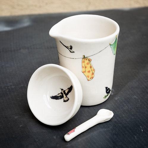 Small milk pourer with sugar pot No.1