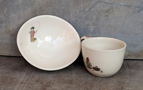 CUP BOWL SET  No.5 -picnic day