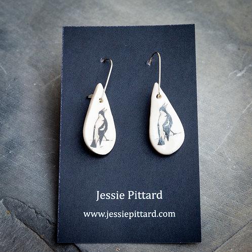 Australian magpie earrings No.93