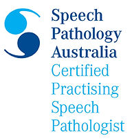 Speech Pathology Australia Certified Practising Speech Pathologist emblem.