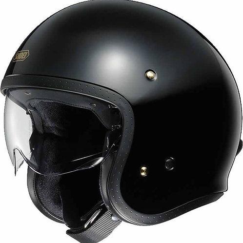 Shoei J.O. Openface Helmets Plain Black
