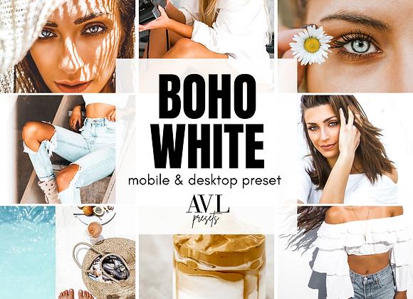 BOHO WHITE Mobile & Desktop Preset