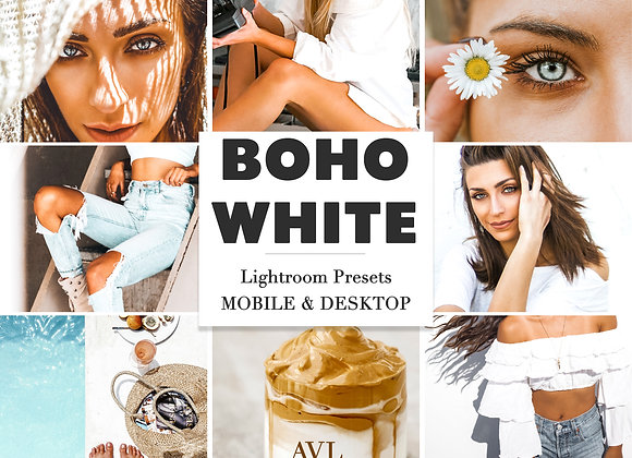 BOHO WHITE Mobile & Desktop Preset