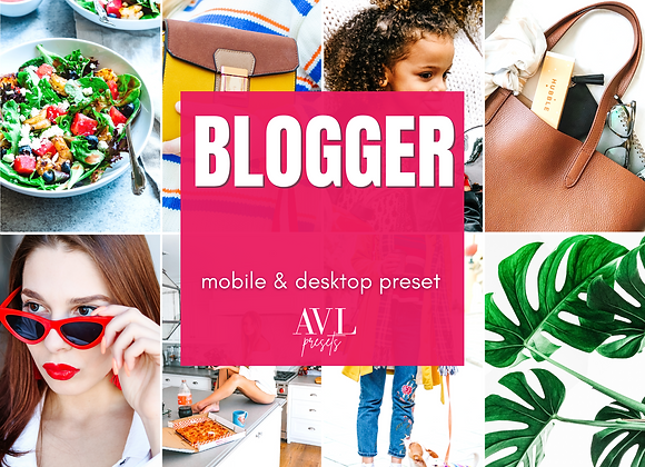 BLOGGER Mobile & Desktop Preset