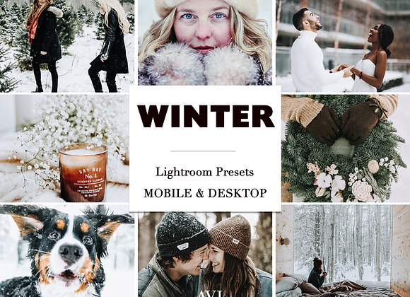WINTER WHITE Mobile & Desktop Preset