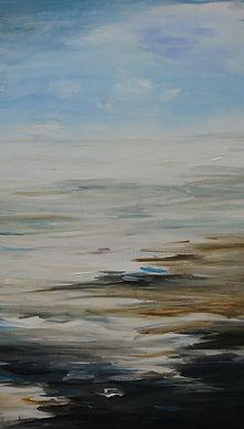 Zee met horizon door Corien Michaël